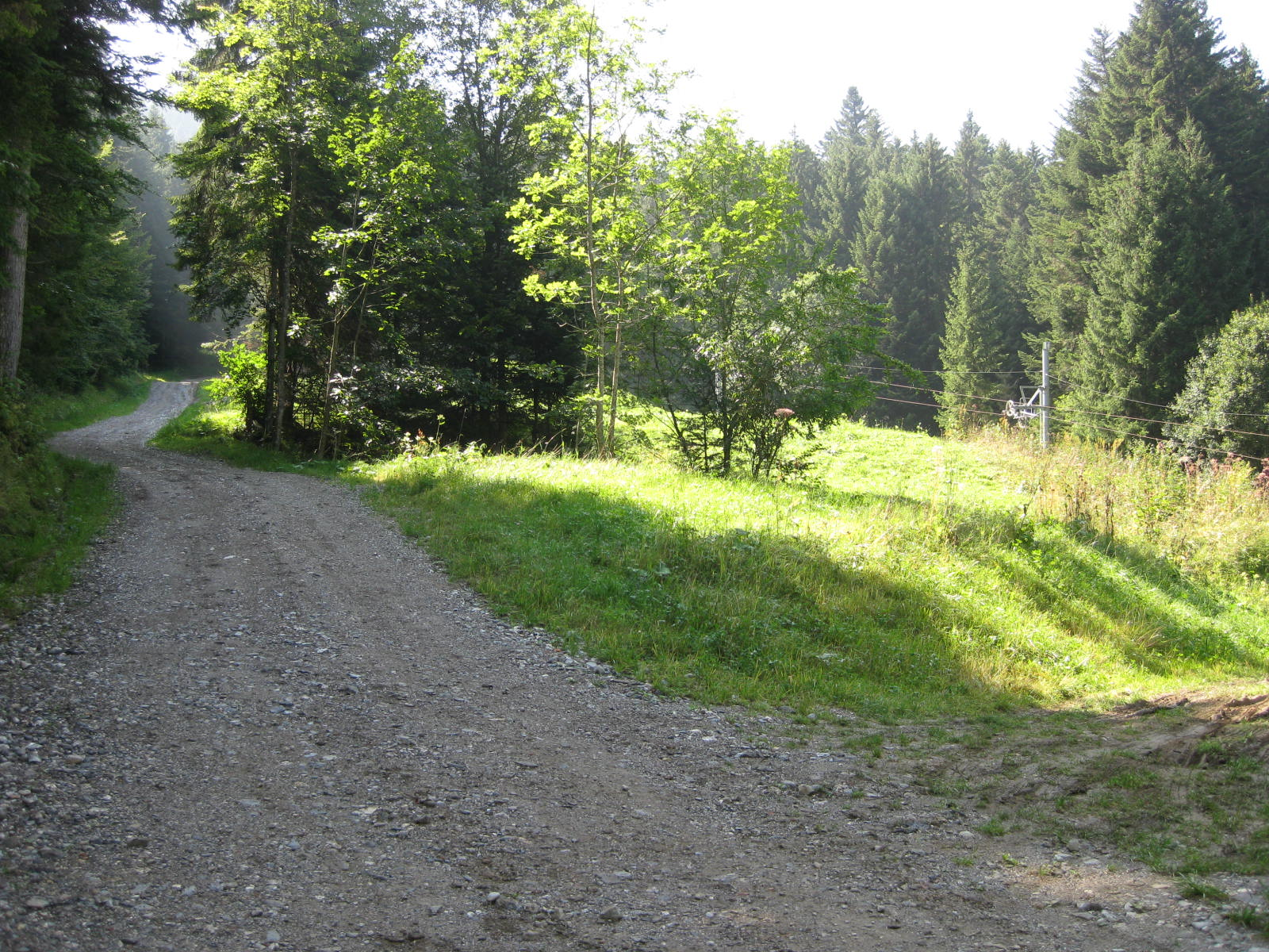 Le sentier de bécret au départ du chalet.